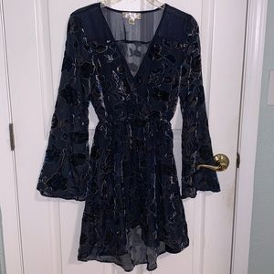 Band of Gypsies Floral Burnout Dress
